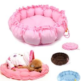 Wholesale cashmere dog - Cashmere-like soft Warm Pet Cat Dog Beds Kennels Expandable & Shrinkable Nest luxury Dog bed round free shipping