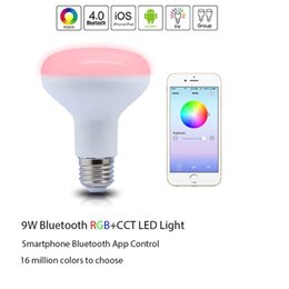 Wholesale E27 Dimmable Flood Light - Bluetooth Smart Led Flood Light Bulb-Smartphone Controlled Dimmable Multicolored Color Changing Lights-Works with iPhone, iPad, Android
