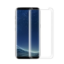 Wholesale Clear Glasses Case - Case Friendly Tempered Glass 3D Curved Full Coverage For Galaxy Note 8 S7 Edge S8 S8 Plus Full Clear Transparent