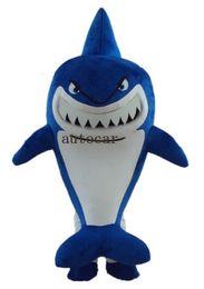 Disfraz de mascota de tiburón adulto online-Traje de la mascota del tiburón azul disfraces de disfraces para adultos navidad traje de disfraces de Halloween Envío gratis