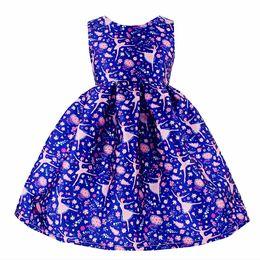 Wholesale Girls New Cotton Frocks - Kseniya Kids Ballet Girl Print Dress 2017 New Year Kids Party Frocks Child Costums 2-10 Years Alg2116
