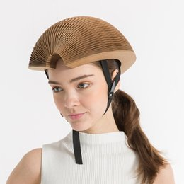 Wholesale Cycling Helmet For Women - 2017 Newest Kraft Paper Cycling Helmet Road Racing Cool Bicycle Helmet Brown Color Free Size 330g Bike Helmets For Men Women