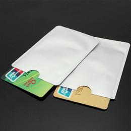 Wholesale Clutch Sleeve - 2000pcs lot RFID Blocking Sleeves Credit Card & Passport Holders Case anti-theft waterproof bank case