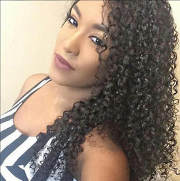 Wholesale Wigs For Women Malaysia - Lace Front Wig Thick Full Lace Human Hair Wigs For Black Women 8A Malaysia Wig Deep Curly Lace Front Human Hair Wigs