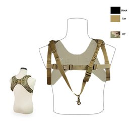 Wholesale Tactical One Point Sling - Outdoor Sports Outdoor Camouflage Body Armor Combat Assault Tactical Molle Vest Plate Carrier One Point Sling Vest NO06-021