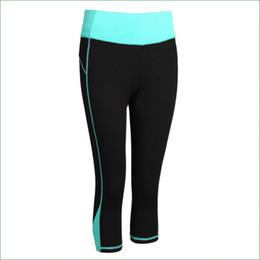 Wholesale Tights Women Black Capri - Wholesale- RP11 Women Running Pants Compression capri Pants Yoga Sports Tights trousers sports legging with practical pocket