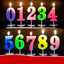 Wholesale Arab Party - Birthday Arab Number Candle Children Kids Gift Mini Candles Wedding Cake Shop Valentine Valentine's Day Lucky Decoratiion Party Romantic Toy