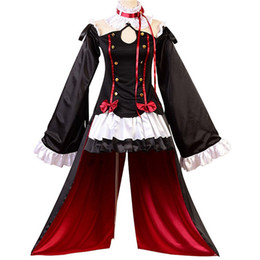 vampire games Coupons - Malidaike Anime Seraph of the end Adult Halloween Dress Masquerade Vampires Krul Tepes Cosplay Costume