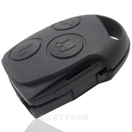 Wholesale Ford Buttons - Car Key Alarm For Car Ford FOCUS mendeo 3 Button Remote Control Without Head blade car key Backseat shell for ford