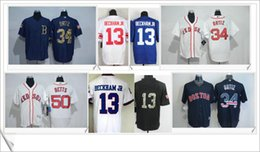 Wholesale Elite Sox - #34 David Ortiz Boston Red Sox Mens #13 Odell Beckham Jr. Embroidery Shirts Uniforms Stitched Sports Pro Elite Jerseys Sz M-XXXL For Sale