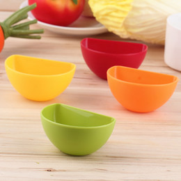 Wholesale Sauce Cups - 1pcs Assorted Salad Sauce Ketchup Jam Dip Clip Cup Bowl Clamping bowl Saucer Tableware Kitchen for Tomato Sauce Sugar Salt Vinegar