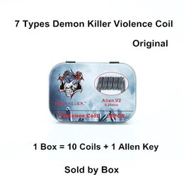alambre calibre 26 calibre Rebajas Original Demon Killer Violencia Bobina Alien V2 Tsuka Clapception enmarcado espaciado Tri-Twisted Staple escalonado Fusionado Clapton 10pcs cables