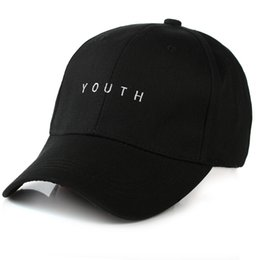 Wholesale Gorras Fashion Hombre - Wholesale- fashion embroidered youth letter lover men women baseball cap pure color snapback hat black white sunhat,gorras hombre muje