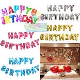 Wholesale Wholesale Happy Birthday - Happy Birthday balloon Letters Alphabe Aluminium foil balloons inflatable toy wedding party happy birthday globos party baloon