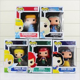Wholesale Tinkerbell Doll Wholesale - 10cm Funko POP Princess Figure Toy Vinyl Princess Snow White Ariel Mermaid Cinderella Tinker Bell Tinkerbell Mini Model Doll
