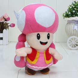 Wholesale Toadette 17cm - Wholesale-7 inch 17cm Super Mario bro Toadette Plush doll Figure Toy Doll Super Mario toy for Baby gift