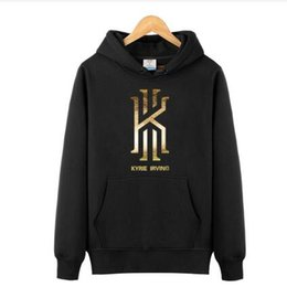 Wholesale V Neck Pullovers Men - Kyrie Irving Men's Basketball Hoodies Sweatshirts Jumpers hip hop Sports Coats Mens Long Sleeve Pullovers killer cross over hoodies