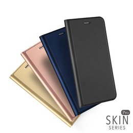 Wholesale Iphone Slimmest Flip Case - For iphone 6 7 Plus DUX DUCIS Skin Seires Slim Leather Flip Case Ultra Thin Leather Wallet Cover For iphone7 5 SE 6S SCA290