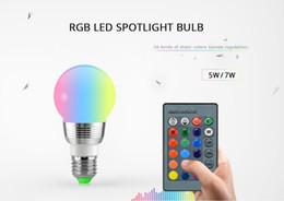 Wholesale Led Light Blub Remote - RGB LED Blub E27 E14 Base 24 Keys IR remote control 16 Color Changing LED Light