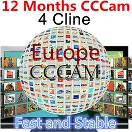 Wholesale Satellite Receiver Boxes - Best 1 year 12 month europe 4 line cccam clines Server account android tv box dvb s2 satellite receiver decoderccam Iks mediaset Premium