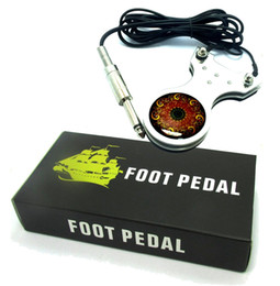 Wholesale foot liners - Wholesale-Heavy Duty Steel Footswitch Foot Pedal Tattoo Machine Gun liner shader ink needle Tattoo supplies