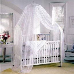 Wholesale Round Beds For Kids - Wholesale-Baby Canopy Mosquito Net for Cot kids Baby Bed Four Poster Crib Netting Hanging Dom Round top mosquito net portable mosquito net