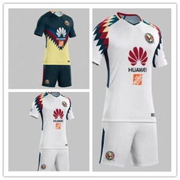 Wholesale Jersey Club America - Club America Aguilas 2017 camiseta de futbol Mexican League soccer jersey kit thai quality 17 18 green Mexico american club football shirts