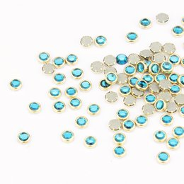 Wholesale Manicure Wholesale Supplies - Wholesale-2016 100pcs Gold Glitter Alloy 3D Nail Arts Decoration Charms Crystal Rhinestones for Nail Manicure Jewelry Supplies PJ332