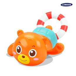 Wholesale Dogs Pull Toy - Pull Rope Wind Up Toy Swimming Water Bath Toy Funny Wind-up Cute Floating Brown Bear Kayak Dog for Kinds Child with Retail Package