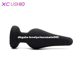 Wholesale Silicon Women Sex Men Toy - 120*40mm Silicon Medium Anal Sex Toys for Women&Men Sex Flirting Toys Anal Butt Plugs + Brief Design Black Sex Products