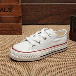 Zapatos de deporte de las niñas linda online-Los niños calzan los zapatos de lona de los niños de Boygirl los deportes lindos del ocio calzan el top alto bajo inferior de goma 5 colores clasifican 24-34
