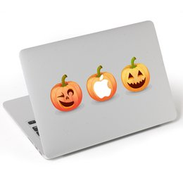 Wholesale Vinyl Sticker Macbook - Halloween 3 Happy Pumpkin Laptop Notebook Skin Sticker Cover Vinyl Decal Decoration for Apple Macbook Party Supplies