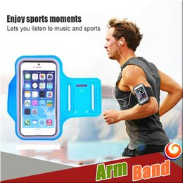 Wholesale Chinese Waterproof Cell Phone - Iphone 7 Plus Armband Case Waterproof Sports Running Case Running bag Workout Armbands Holder Pounch For Samsung Cell Mobile Phone Arm Band
