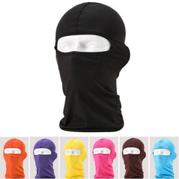 Wholesale Wholesale Balaclava Mask - Balaclava Riding headgear Mask Windproof Cotton Full Face Neck Guard Masks Ninja Headgear Hat Riding Hiking Outdoor Sports Cycling Masks