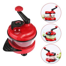 Wholesale Meat Mincer Machine - Household Kitchen Manual Meat Grinders Mincer Fruit Vegetable Meat Mincing Food Processor Powerful Cutting Machine B