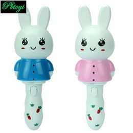 Wholesale Singing Can - Wholesale-Rabbit Music Lights Shake Can Sing children's Luminous Toys Mixed Color Delivery PC0261