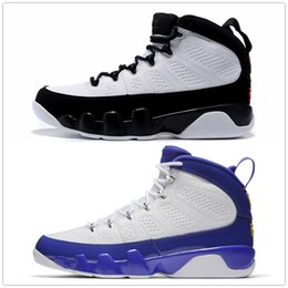 Wholesale Basketball Player Shoes - retro 9 basketball shoes Tour Yellow white Space jam black blue High Top Shoes Player Edition Versio