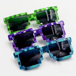 Wholesale Cosplay Goggles - Mine craft Sunglasses Kids Cosplay Action Figure Game Toys Square Glasses Gifts for Children Brinquedos#E3 Color