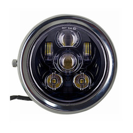"Wholesale Headlights Custom - 5.75"" LED Projector Headlight with house bracket ring for Motorcycle Custom Chopper Bobber Cafe racer"