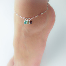 Wholesale Diamond Girls - New Arrival Anklets Bracelets CZ Diamond Ankle Chain Alloy Silver Link Chain Anklet For Women Girls Beach Foot Bracelets Fashion Jewelry Hot