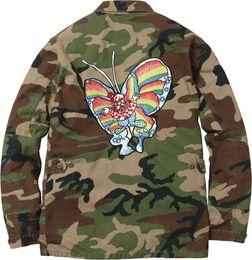 Wholesale Army Bdu - 2017 New 16SS Gonz Butterfly BDU Jacket Autumn winter Windbreaker jacket Black Camouflage Size S--XL S601