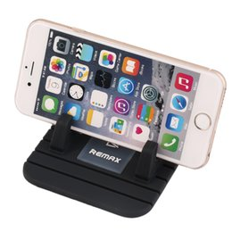 Wholesale silicon phone stand - Black Silicon for Phone Holder Mount Stand Cradle Non Slip Mat Pad FOR Remax