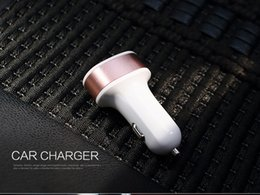 Wholesale Car Charger For Iphone5 - 2.1A Dual USB 2 Port Car Charger Adapter For Tablet Ipad Iphone5 6 6Plus Samsung S6edge Note4 Note3 Mobile Phone