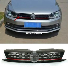 Wholesale Grill Fitting - High Quality ABS Honeycomb GLI Front Upper Grille Fit For VW Jetta MK6 2015 2016 Up Grill