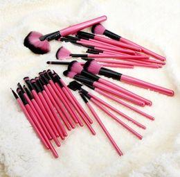 Rouler les cheveux en Ligne-Professionnel 32 Pcs Maquillage Cosmétique Maquillage Brosse Brosses Set Fondation Blush Eyeliner Beauté Cheveux Naturels Avec Free Roll Bag