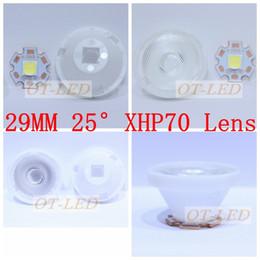 Wholesale Cree Mce - Wholesale- Cree XHP70 XHP-70 MK-R MKR MC-E MCE Led Lens 25 TO 30 Degree Optical Grade PMMA Led Lens 29X16MM