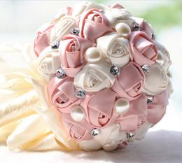 En stock Superbes fleurs de mariage 2017 blanc rouge ivoire demoiselle d'honneur bouquets de mariée artificielle bouquet de mariage rose ? partir de fabricateur