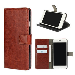 Wholesale Iphone 4s Magnet Case - Crazy Horse Leather Wallet Case With Magnet Buckle Stand Cover For Apple iPhone 5 5S SE 5C 4 4S 6 6S 7 Plus