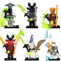 Wholesale Ninja Plastic Building Blocks Toys - 10 Sets 6Pcs 10047-10052 ninja minifigures Master Yang General Kozu Pythor Echo Zane Building Block Kids Brick Toy