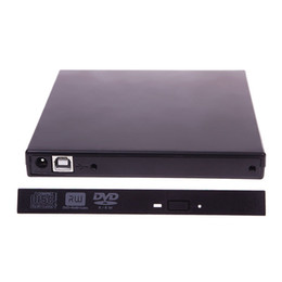 Wholesale Usb External Sata Dvd - Wholesale- ONLY BOX USB 2.0 External SATA DVD CD RW Disc Drive Slim Enclosure Case for Notebook PC #52593